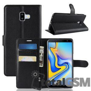 Husa Flip Samsung Galaxy J6 Plus Piele Neagra