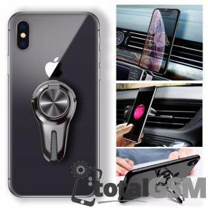 Suport Auto Magnetic Ventilatie iPhone Samsung Nokia Lg Rosu