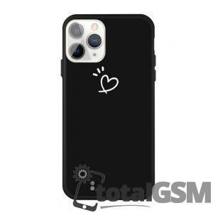 "Husa iPhone 11 Pro 5.8 inch Neagra Model ""Heart"""