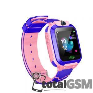 Ceas Smartwatch Inteligent Cu Gps Pentru Copii Roz