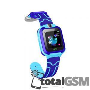 Ceas Smartwatch Inteligent Cu Gps Pentru Copii Albastru